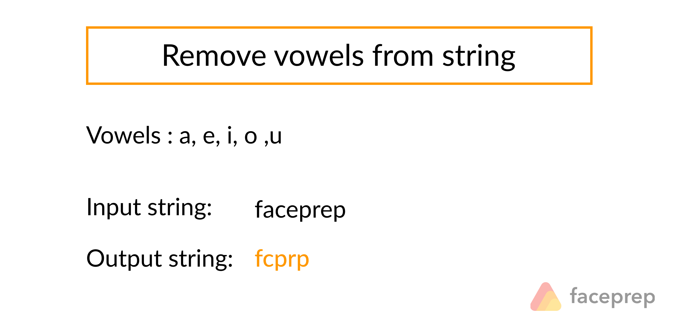 Remove vowels from a string and return the string with