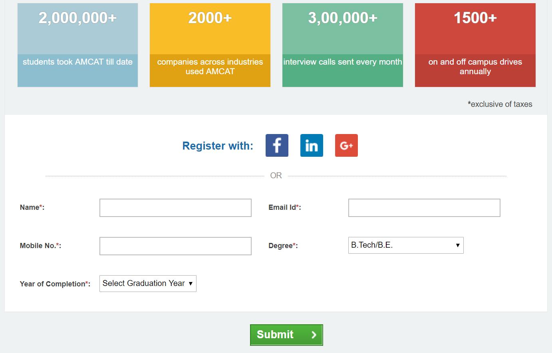 amcat registration process