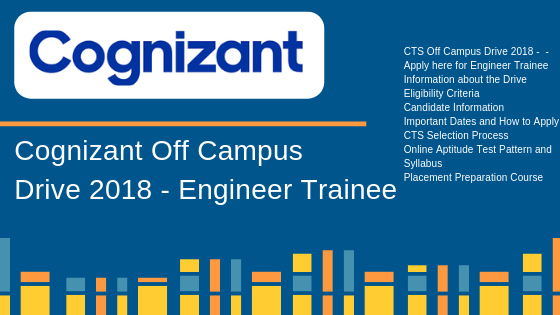 Cognizant Off-Campus Drive 2018 – Freshers – B E/B Tech Apply here