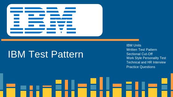 IBM Test Pattern for IBM Online Written Test 2018 | FACE Prep -