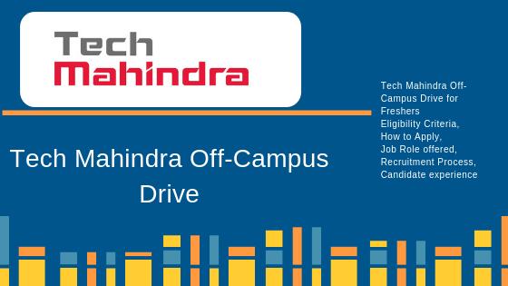 Tech Mahindra Off-Campus Drive