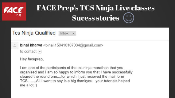 TCS Ninja Results 2018 | Check now | Articles - FACE Prep