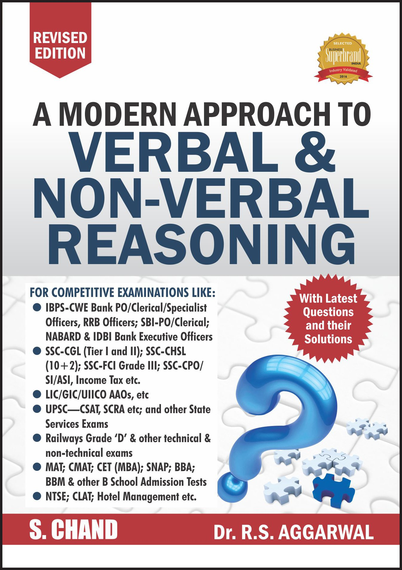 Best Reasoning Books For Placement Preparation - A Modern Approach to verbal and non-verbal Reasoning by R.S.Aggarwal