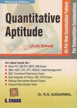 Best Quantitative Aptitude Books For Placement Preparation - Quantitative Aptitude by R.S.Aggarwal