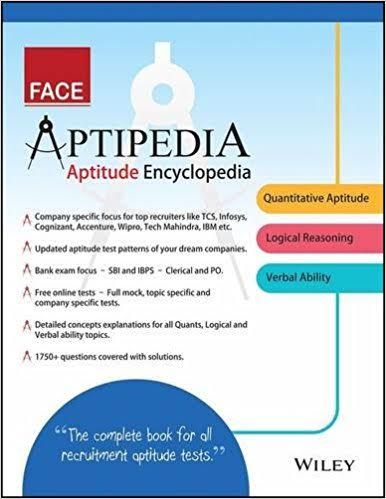 Best Books For Placement Preparation - Aptipedia Aptitude Encyclopedia by FACE