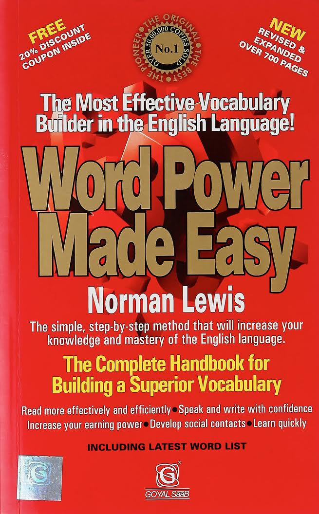 Best English Books For Placement Preparation - Word Power Made Easy by Norman Lewis