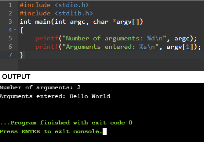 command line arguments in c with examples