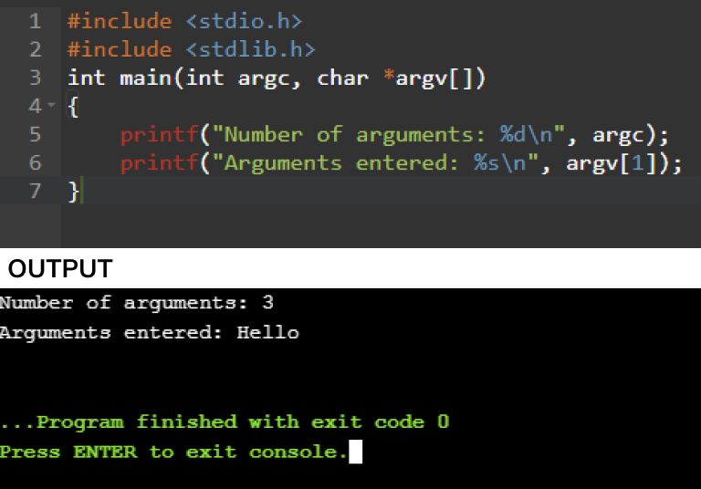 command line arguments programs in c
