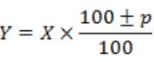 formulas of percentages
