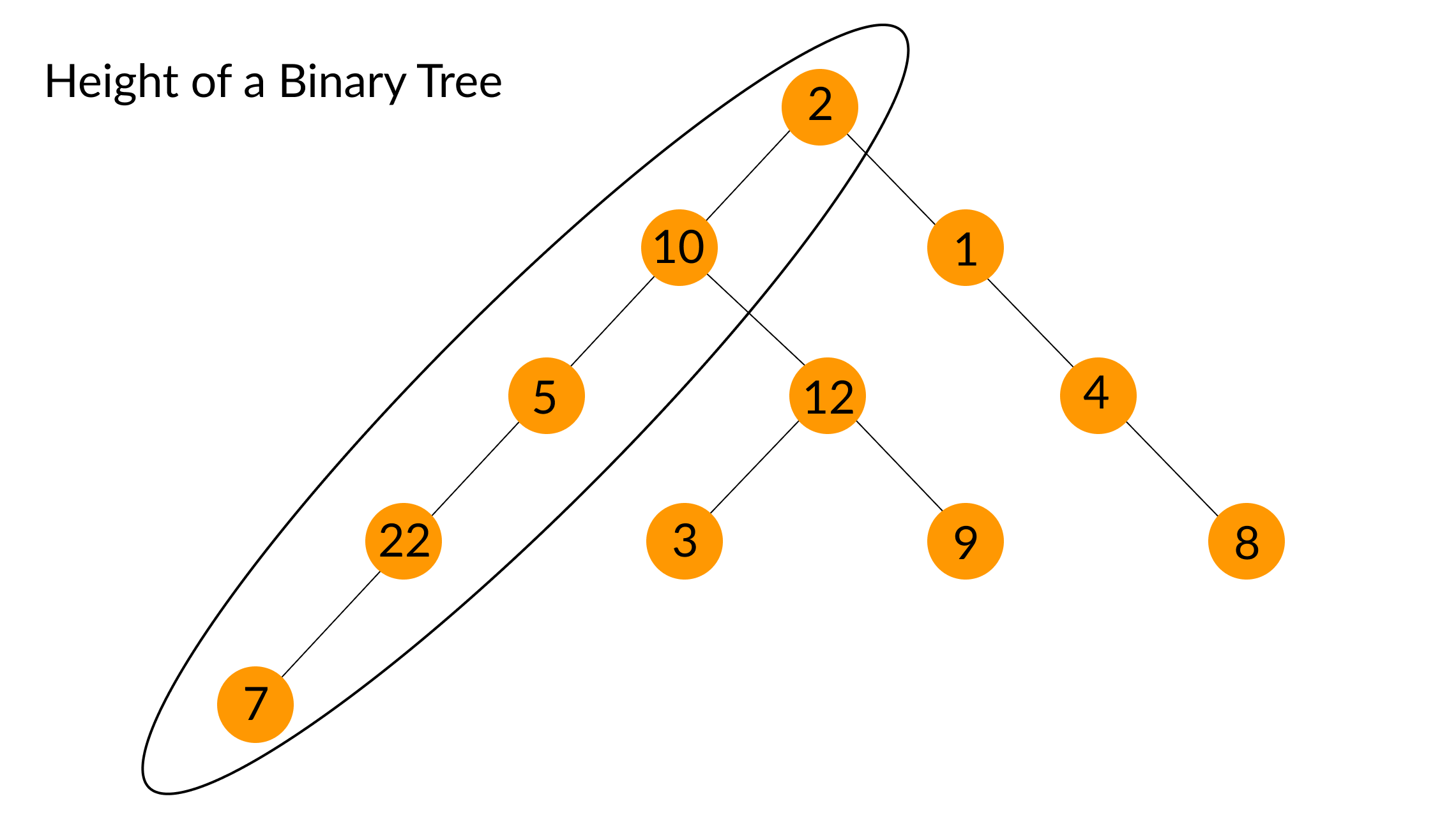 height of a binary tree