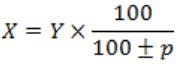 percentages formulas for calculating percentages