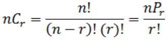 permutations and combinations questions formula