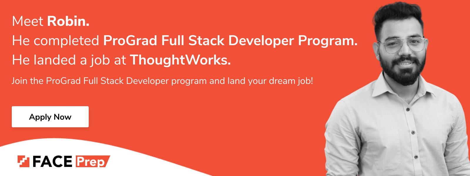 ProGrad Full stack Developer Program