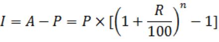 simple and compound interest formulas