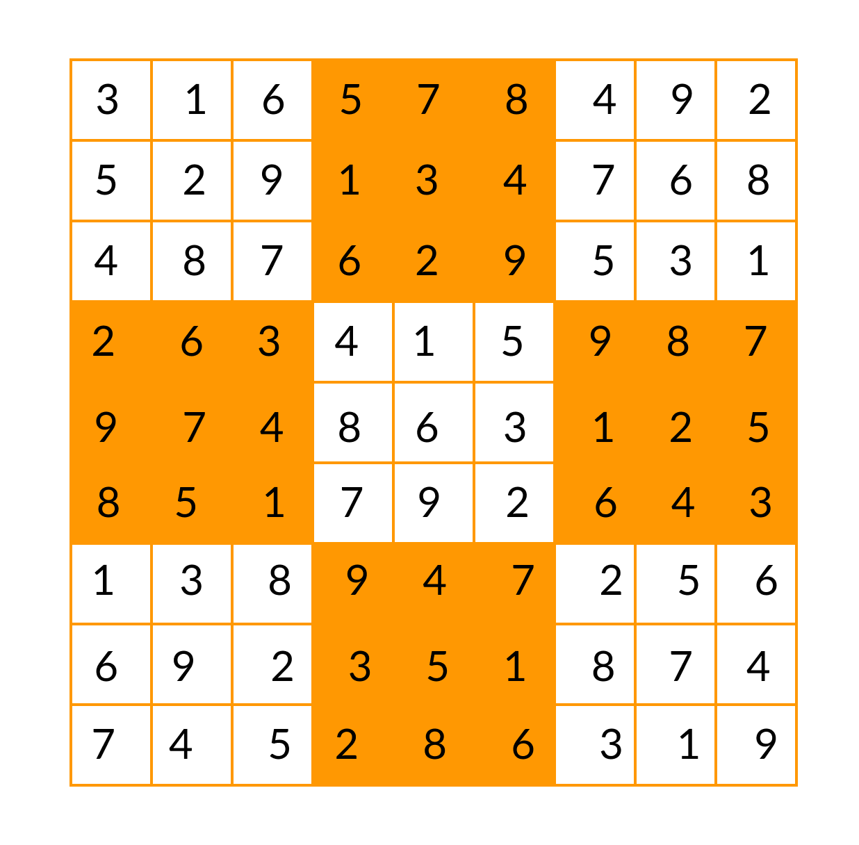 Sudoku after solving
