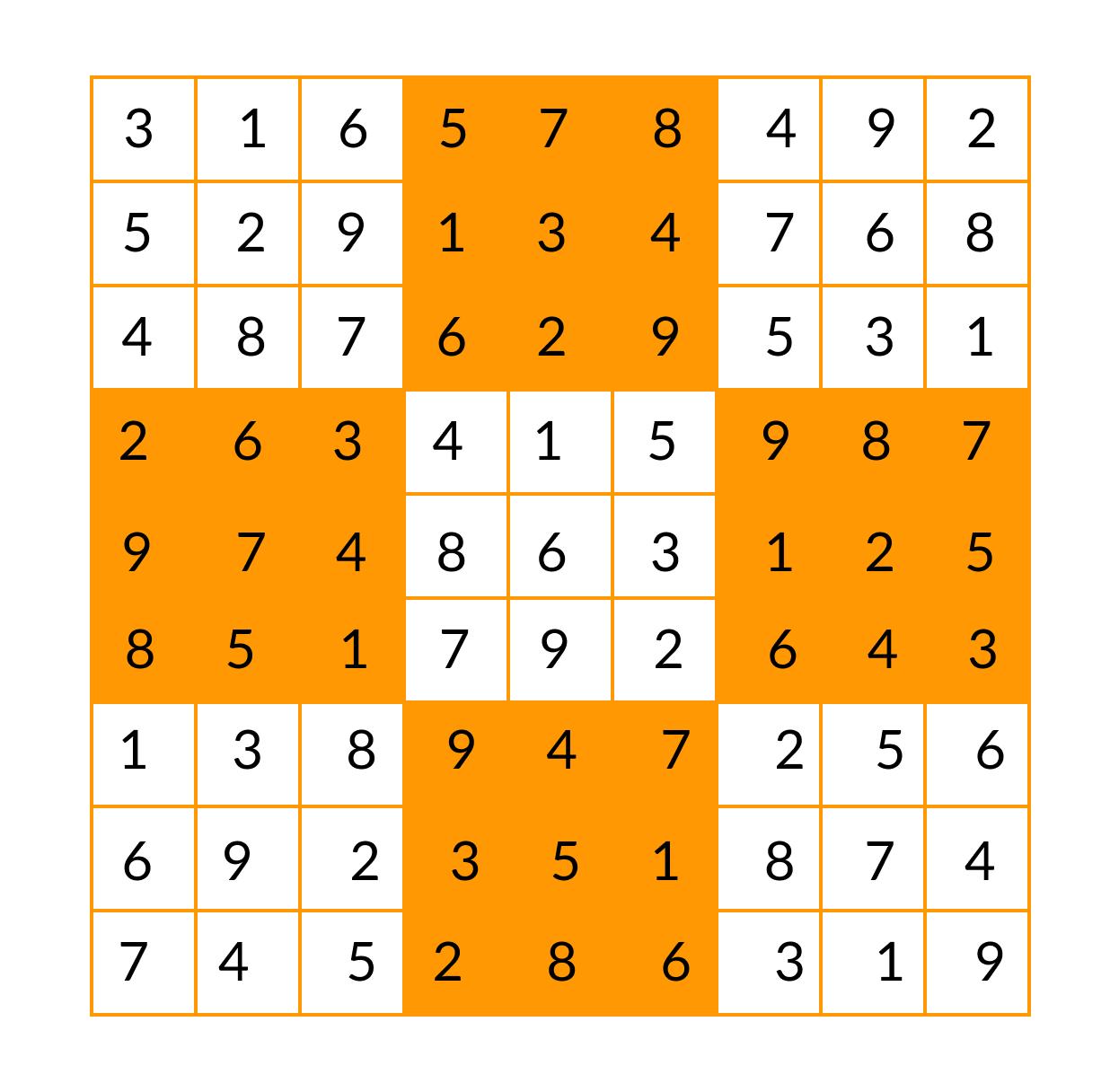 Sudoku after solving