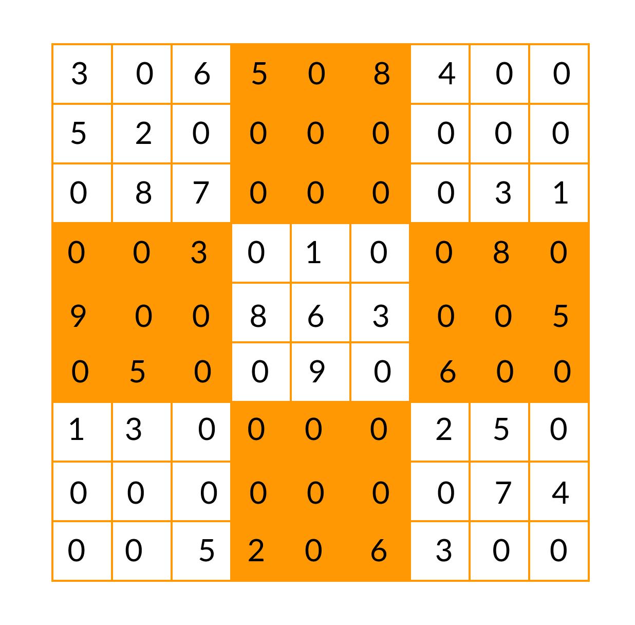 Sudoku before solving
