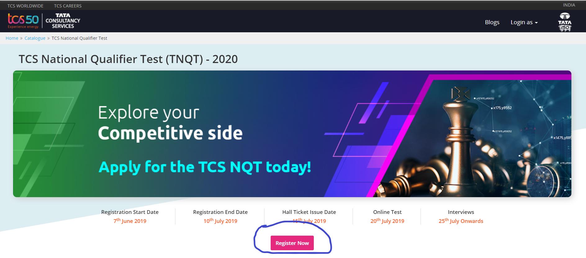 TCS NQT 2020
