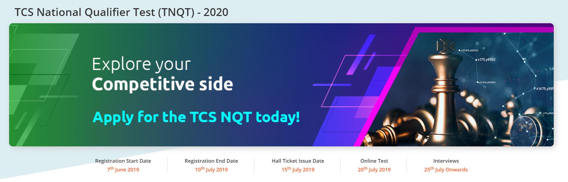 tcs nqt hiring for 2020 passouts