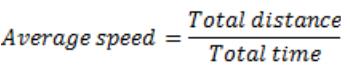time speed distance formulas