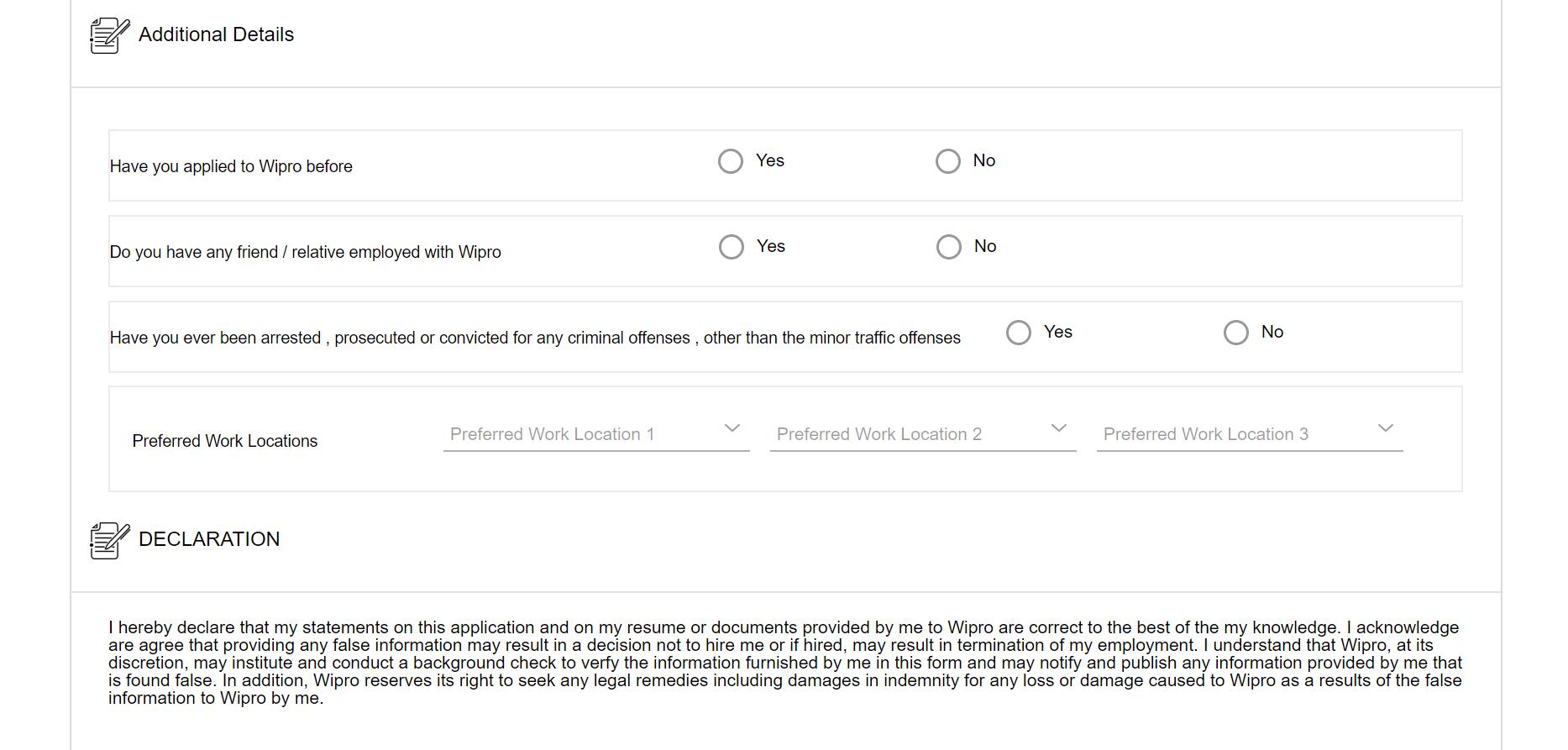 wipro nlth registration process