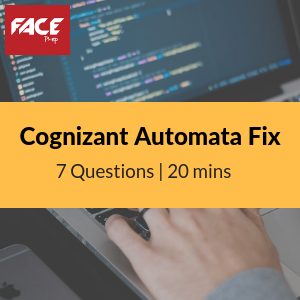 Cognizant Automata Fix questions | Cognizant Automata Fix pattern -