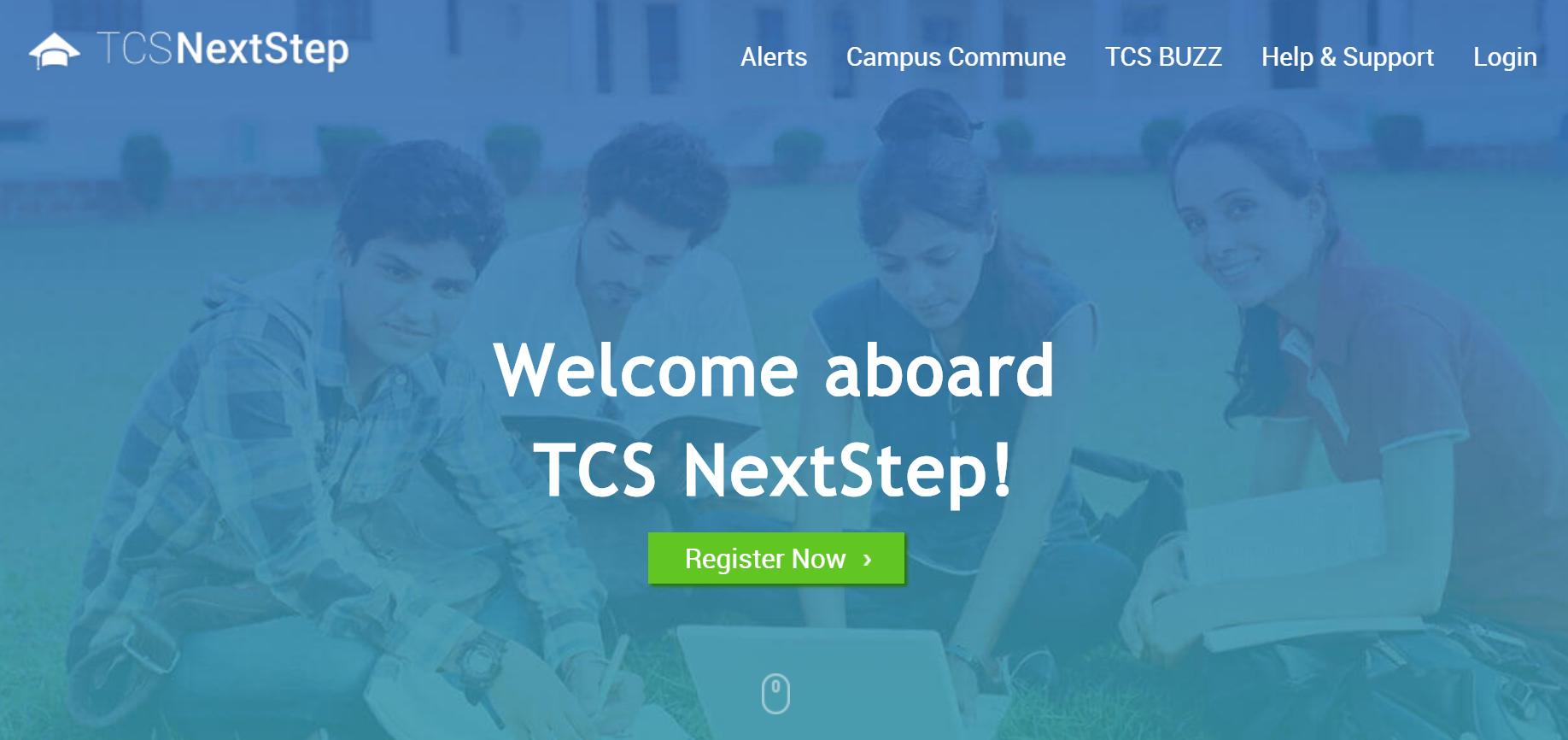 tcs next step registration process