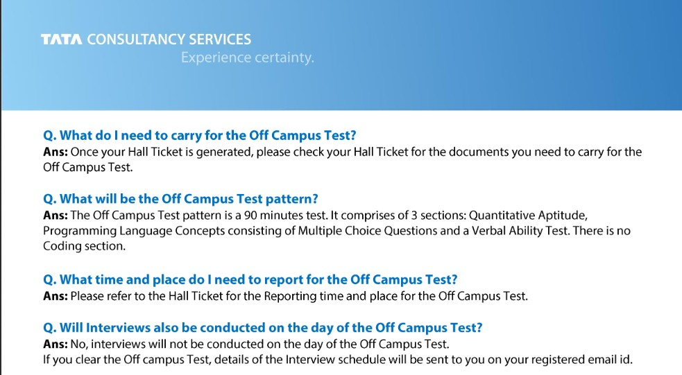 Free Online Placement Resources | Company Papers | Tests - FACE Prep