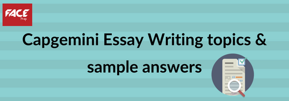 Capgemini essay writing topics and answers
