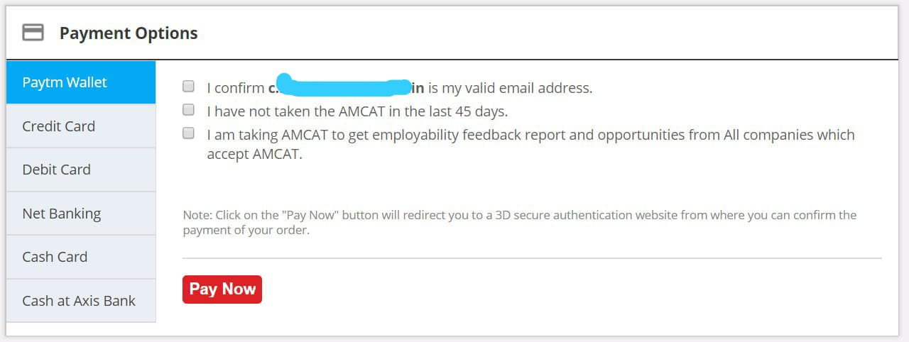 amcat fee payment methods