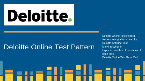 Deloitte Online Test Pattern