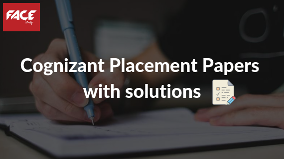 cognizant placement papers with solutions