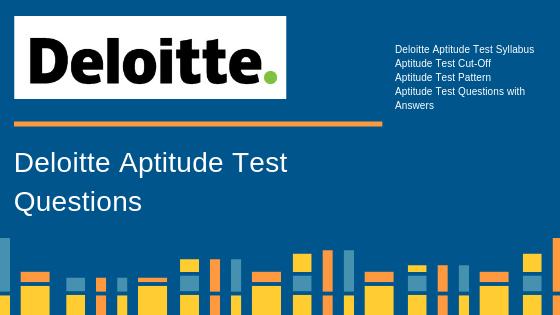 Deloitte Aptitude Test