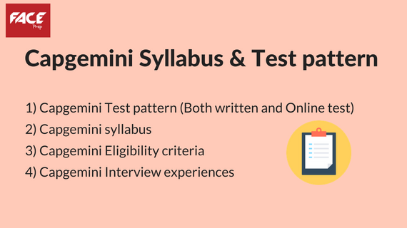 Capgemini syllabus and written test pattern