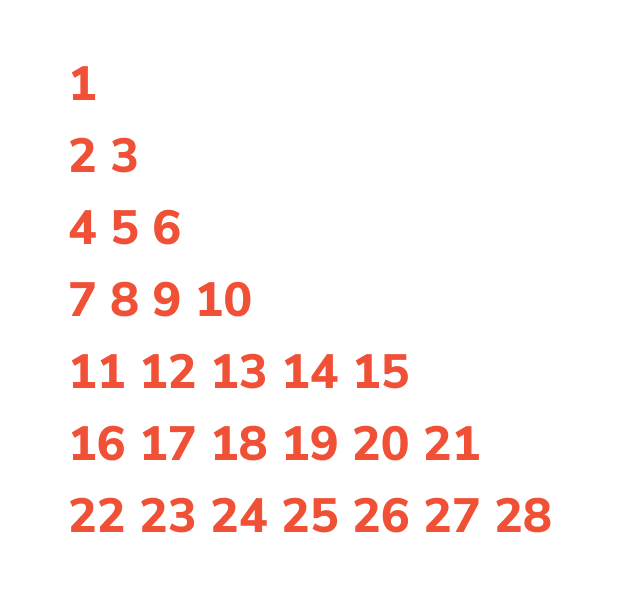 floyd's triangle pattern program in c