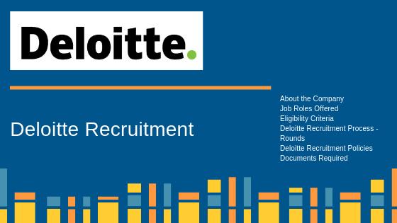 Deloitte Recruitment