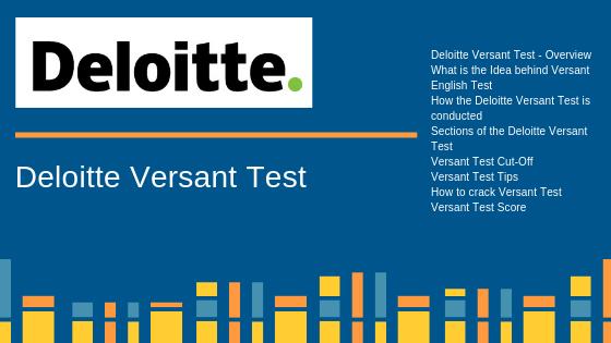 Deloitte Versant Test